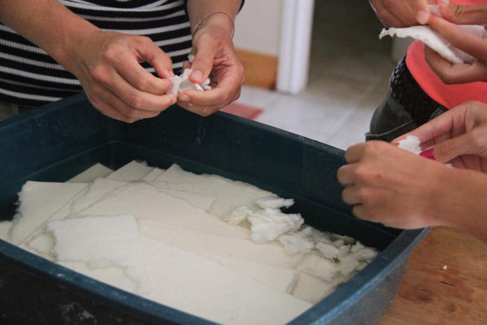 Making pulp