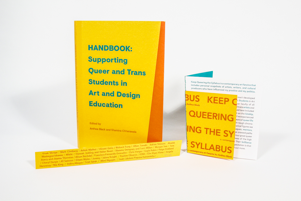Anthea Black and Shamina Chherawa, HANDBOOK: Supporting Queer and Trans Students in Art and Design Education